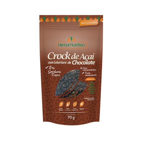 Crock de açai com chocolate